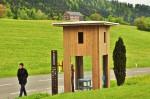Für ein Verhör ist immer Zeit: Russisches Buswartehäusl in Oberkrumbach (Foto: Munich Globe Bloggers)