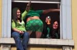 Vom Beer-Totaler zum Greet-Totaler: Der Dubliner grüßt mit jedem Körperteil (Foto: Munich Globe Bloggers)