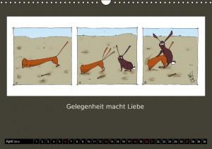 Gelegenheit macht Liebe - aus dem Kalender Mensch und Hund (Caroline Brösamle)