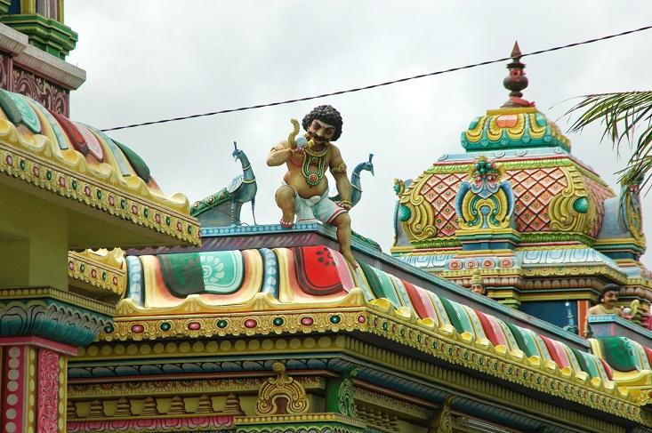 Tante Käthe? Frank Rijkaard? It's Balla-Balla, Fußballgott der Hindus (Foto: Munich Globe Bloggers)