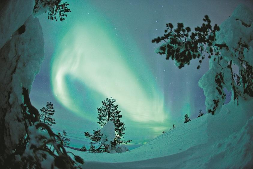 Shine a Night: Licht-Installation von Tuuli Aurinko (Foto: Jani Kärppä/Visit Finland)