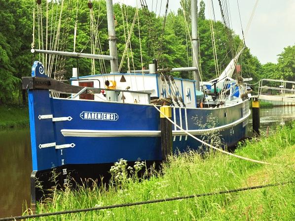 Zu schön für einen Selfie: Übersee-Luder Helene, Schifffahrtsmuseum Haren (Ems) - nicht im Bild: Lord Waldemar und Papenburg (Foto: Munich Globe Bloggers)