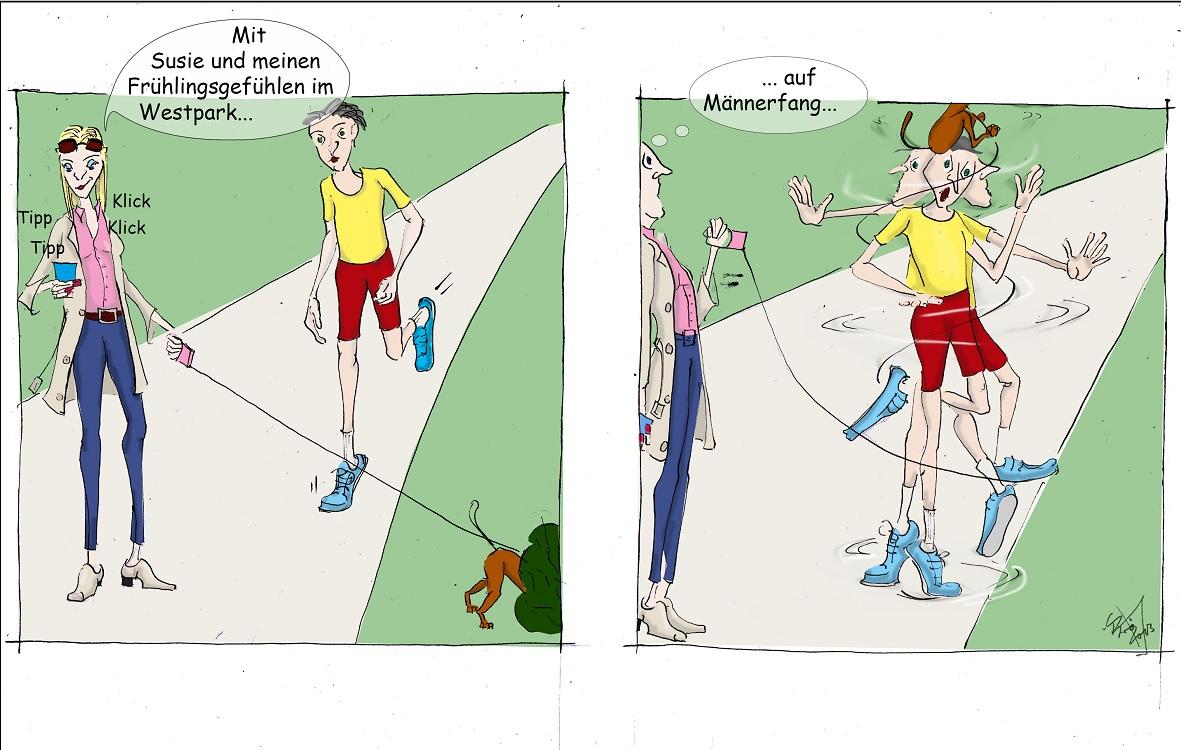 Gmade Wiesn für Longline-Asse: Westpark, München (Cartoon: Caroline Brösamle)